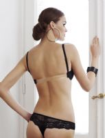 "Clear Back Bra ""Valea"" (Black)"